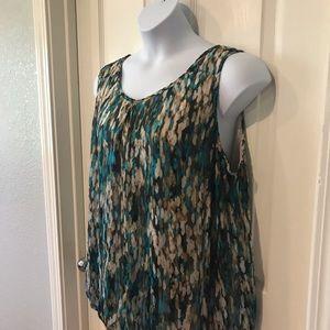 Fox & Ali sleeveless blouse sz 3X